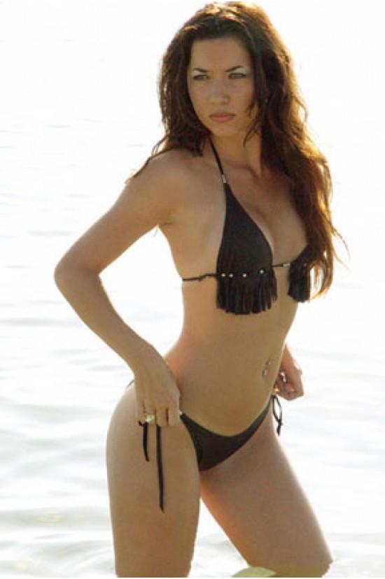 Leather string bikini agree